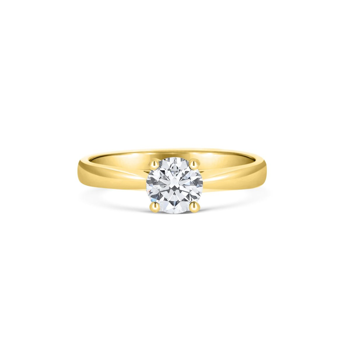 Lucida Single Stone Gold Engagement Ring - 4 Claws