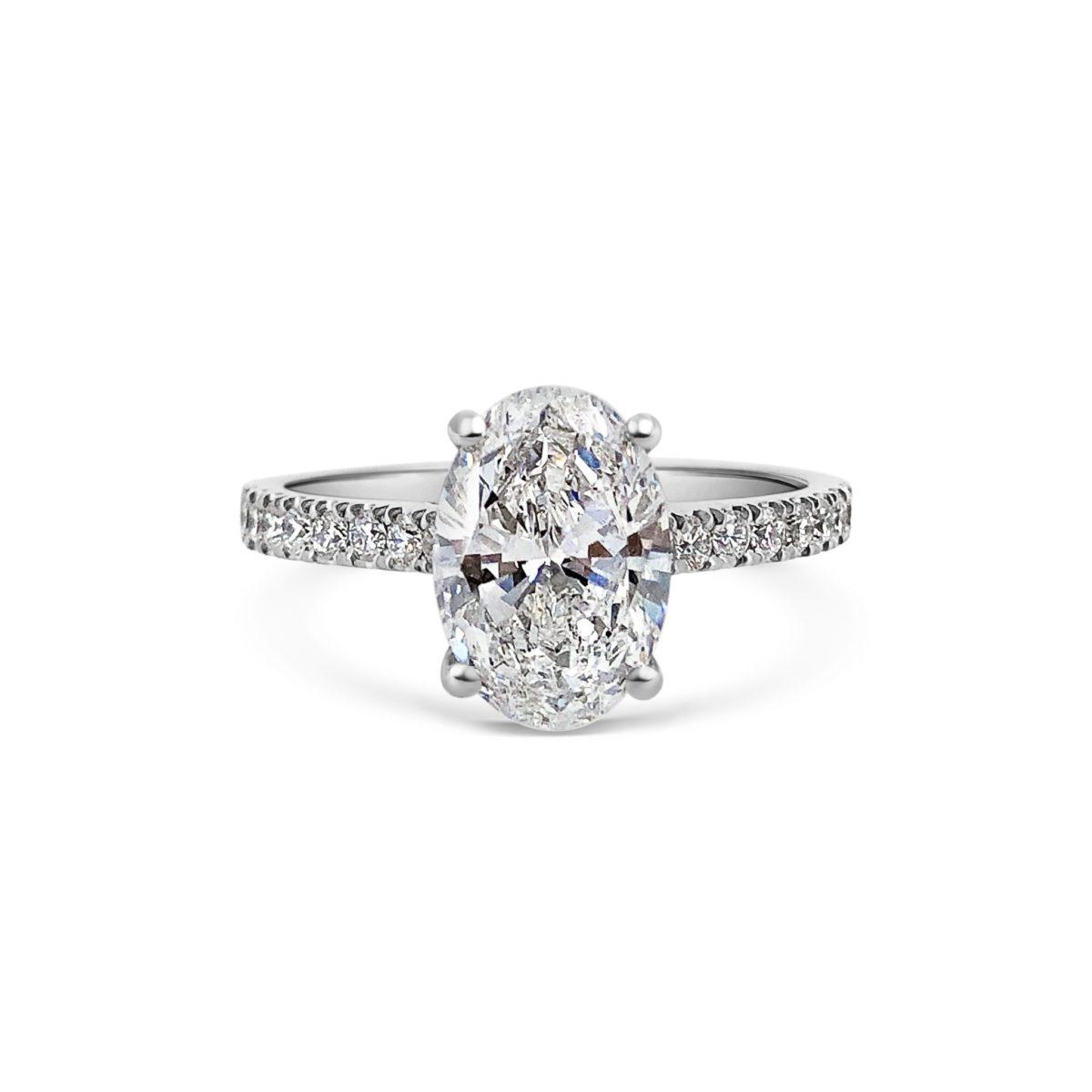 Adina Oval Cut Diamond Microset Engagement Ring