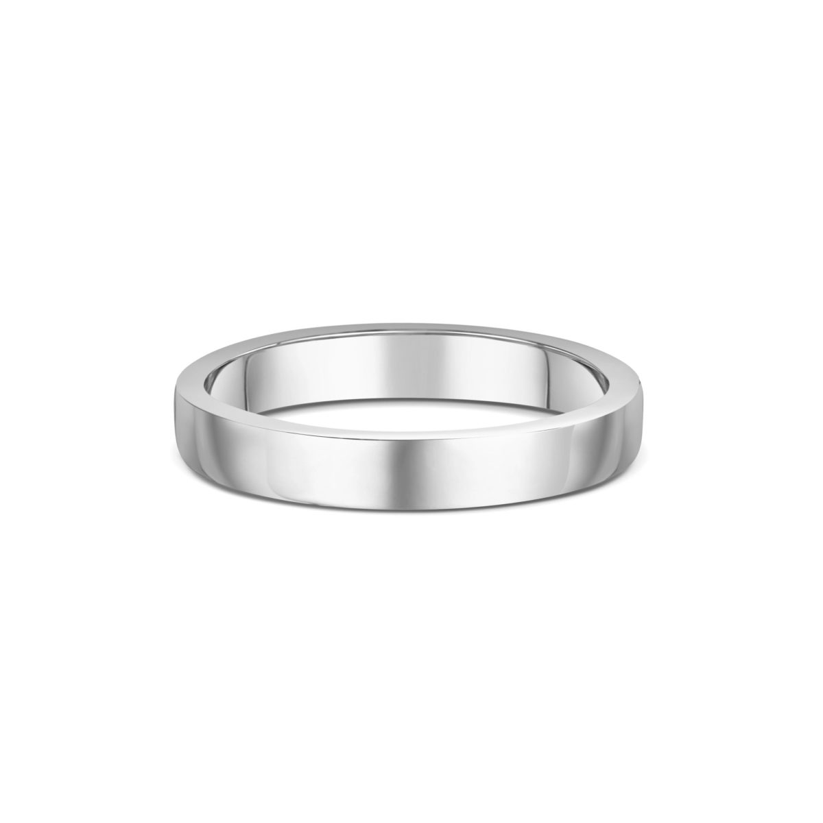 3mm Flat Court Wedding Band