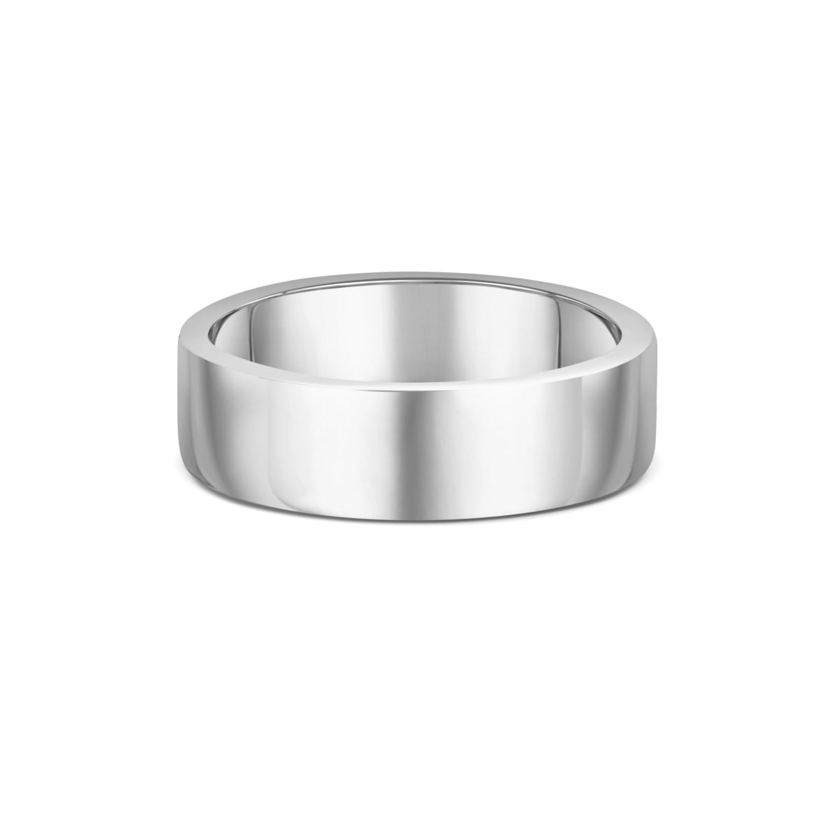 6mm Flat Court Wedding Band