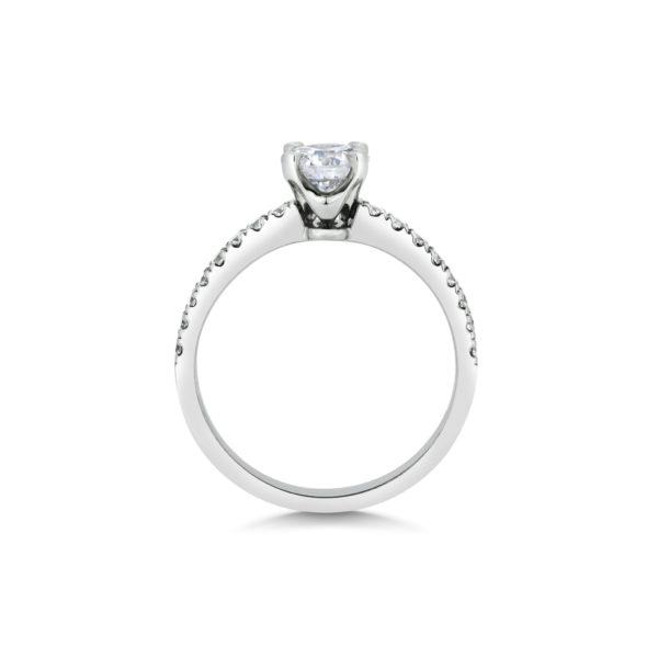 Adina Cushion Cut Diamond Microset Engagement Ring