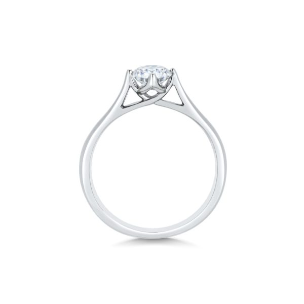 Alice Round Cut Diamond Solitaire Engagement Ring