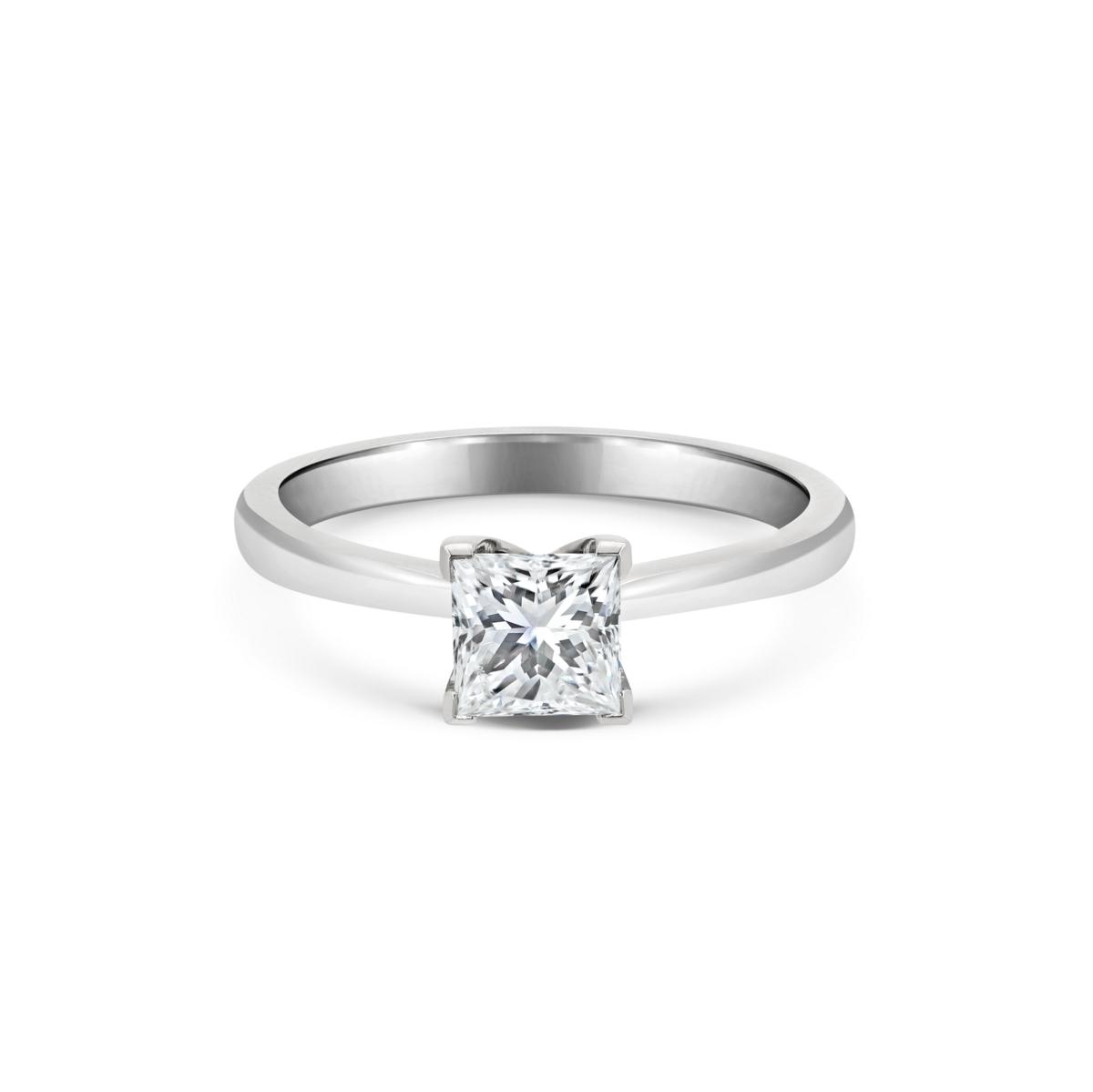 Charlotte Princess Cut Diamond Single Stone Engagement Ring