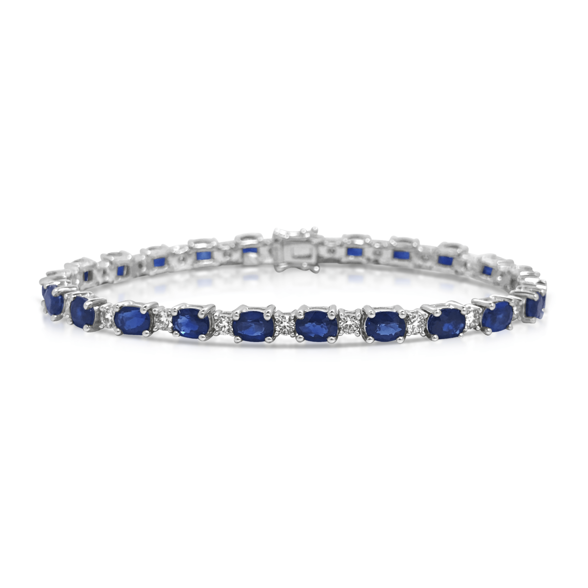 Dalila Sapphire and Diamond Tennis Bracelet