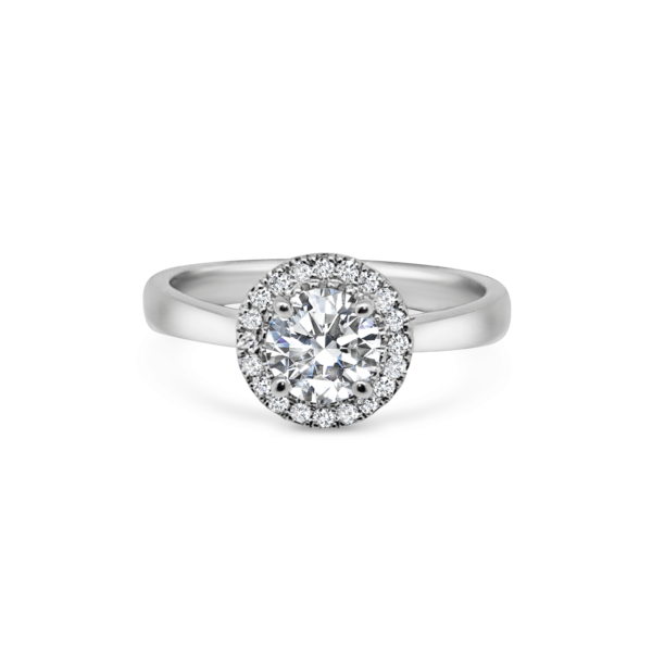 Hailey Round Halo Engagement Ring Front View