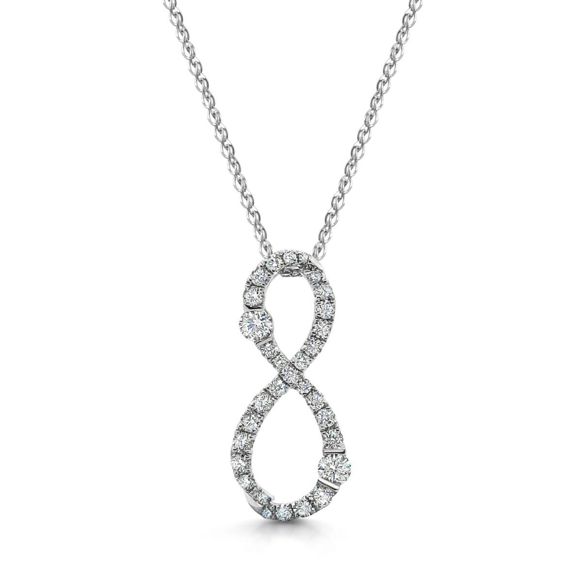 Feya Round Cut Diamond Affinity Microset Diamond Pendant