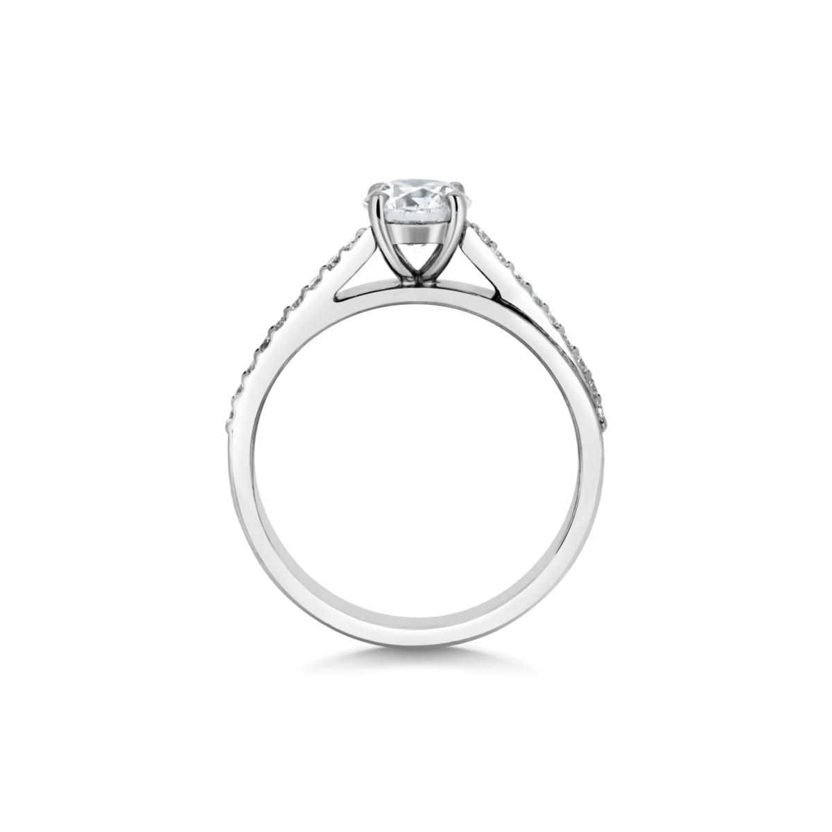 Sephora Round Cut Diamond Microset Engagement Ring Side View