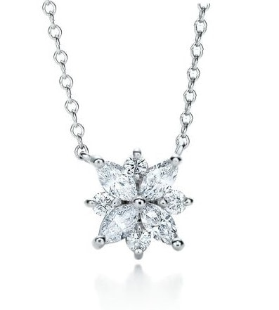 Mariah Marquise Cut Diamond Fancy Petal Pendant