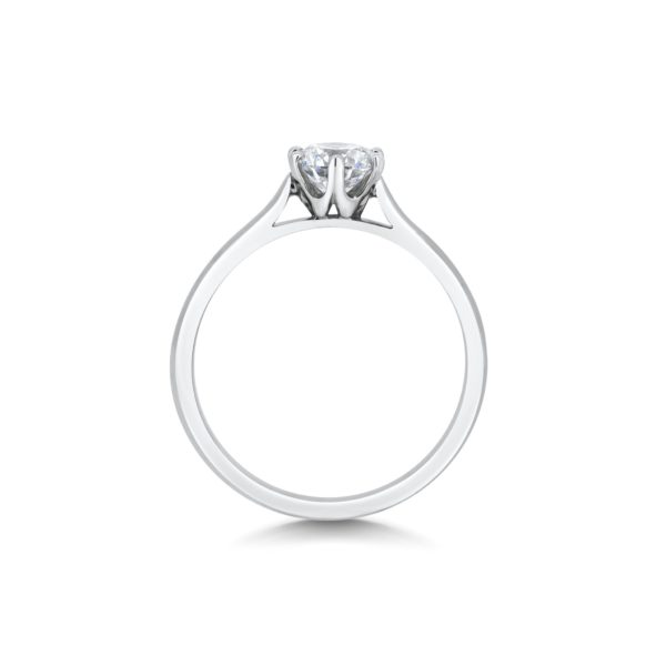 Valentina Round Cut Diamond Six Claw Solitaire Engagement Ring