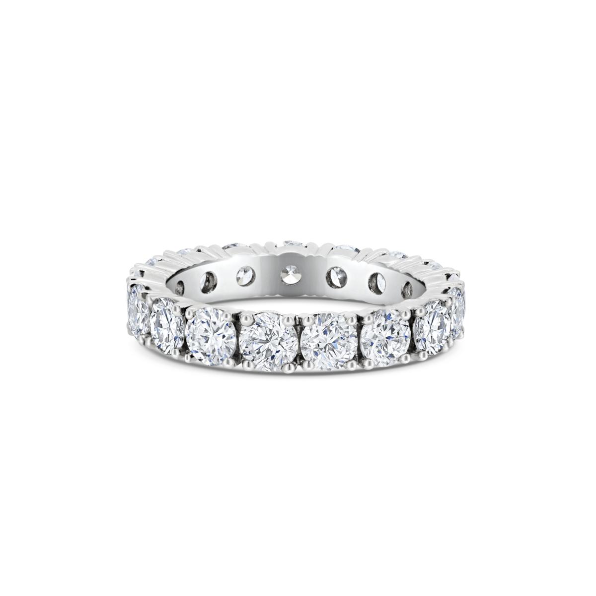 Sienna Round Cut Diamond Microset Full Eternity Wedding Band