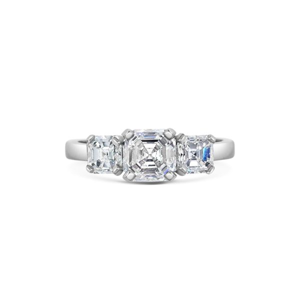 Kate Radiant Cut Diamond Three Stone Engagement Ring