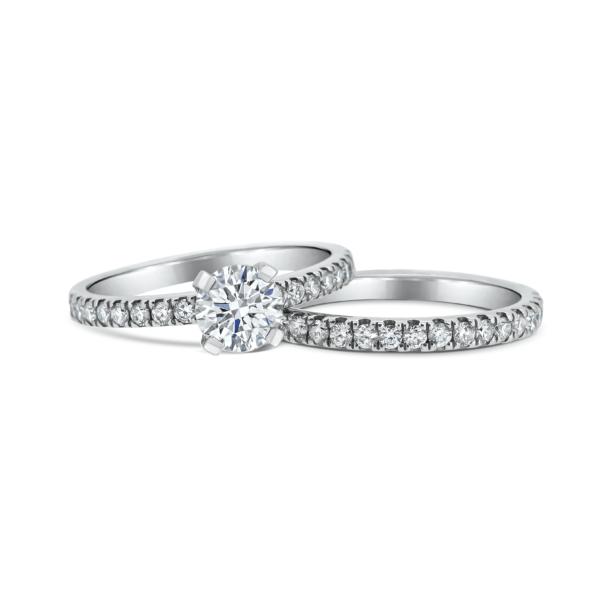 Adina Asscher Cut Diamond Microset Engagement Ring