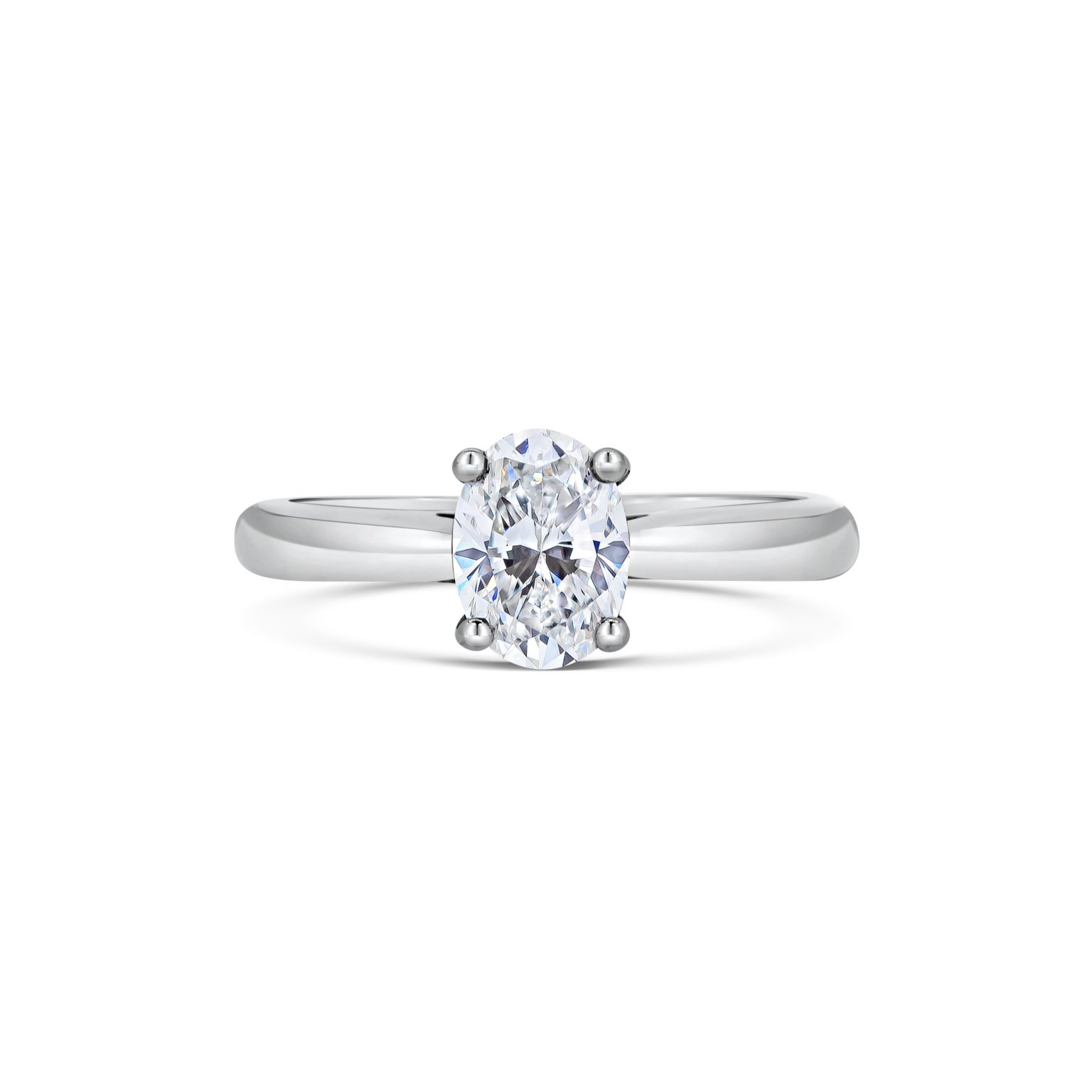 Anna Oval Cut Diamond Solitaire Engagement Ring