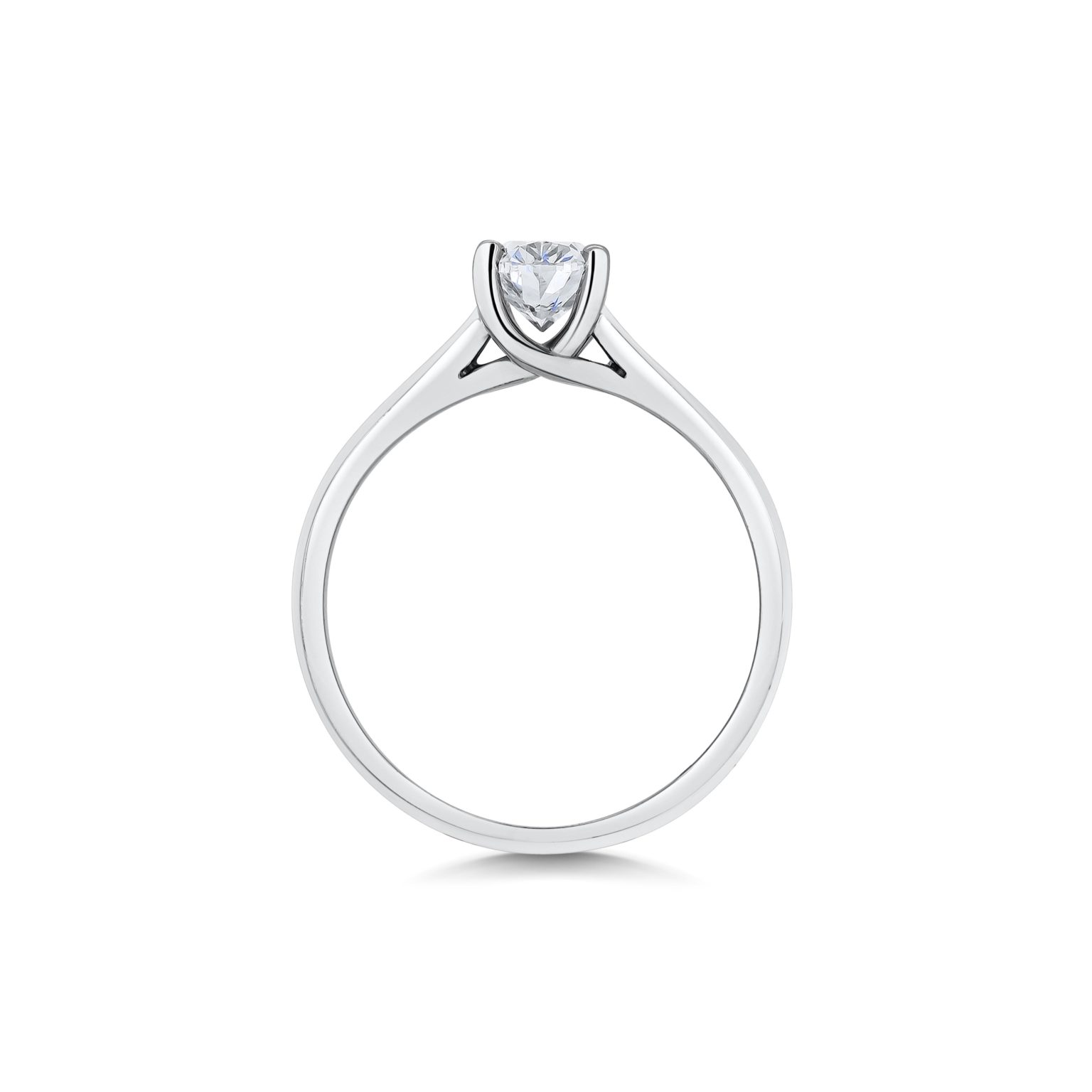 Anna Oval Cut Diamond Solitaire Engagement Ring Side View