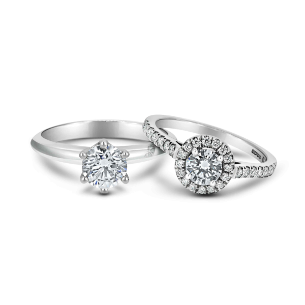 Hal and 6 claw engagement rings