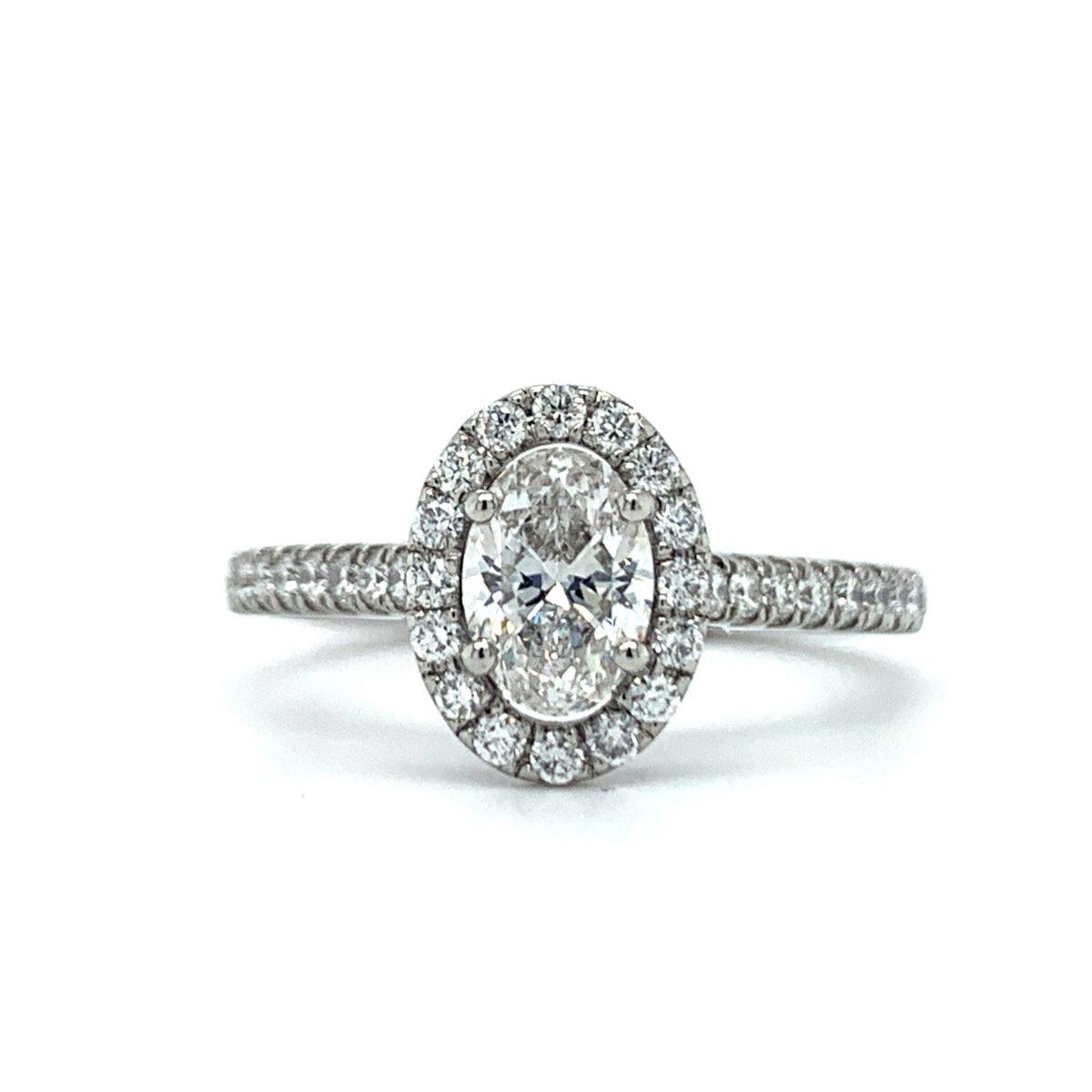 Alise Oval Halo Diamond Engagement Ring
