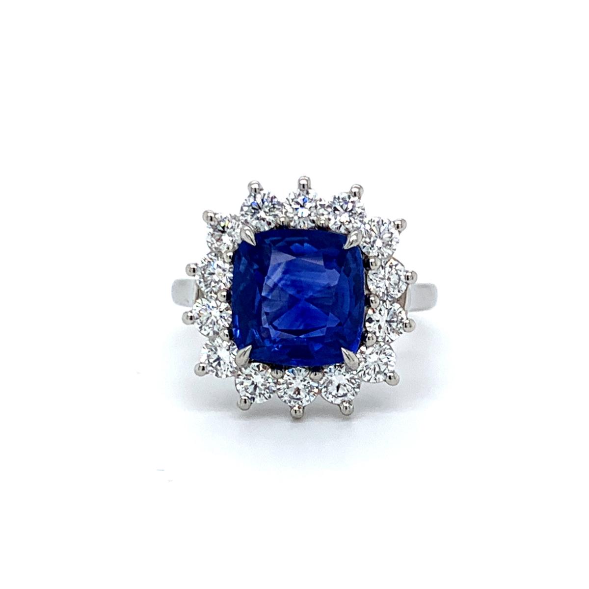 Angel Sapphire Diamond Cluster Ring