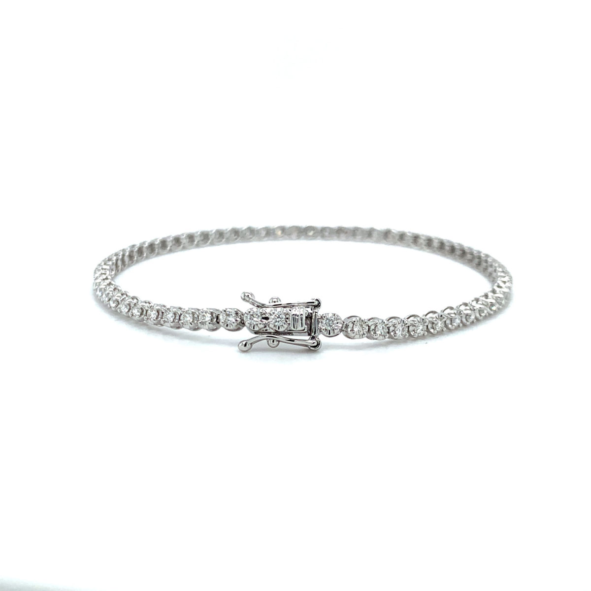 Angelica Round Cut Diamond Claw Set Tennis Bracelet