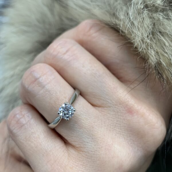 Anna Round Cut Diamond Solitaire Engagement Ring