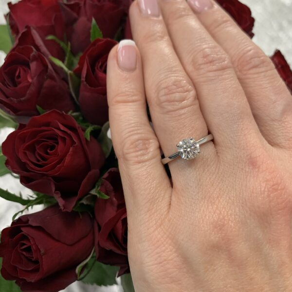 Charlotte Round Cut Diamond Solitaire Engagement Ring