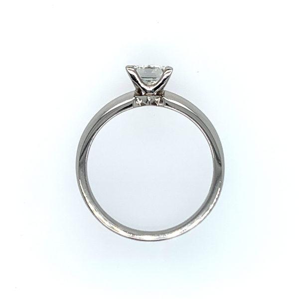 Cruz Princess Cut Diamond Solitaire Engagement Ring Side