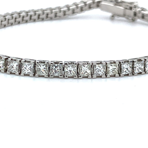 Darcie Princess Cut Diamond Claw Set Tennis Bracelet 2