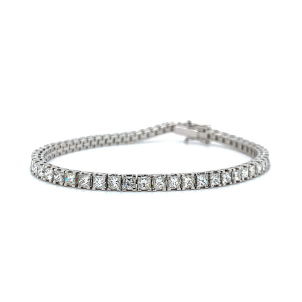 Darcie Princess Cut Diamond Claw Set Tennis Bracelet