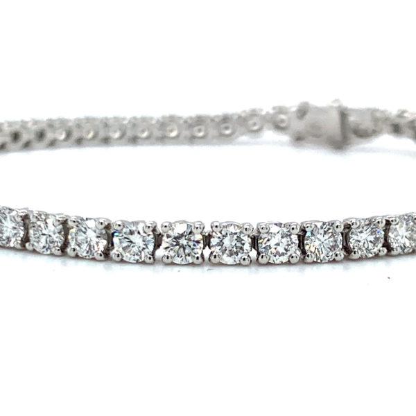 Jasmine Round Brilliant Cut Diamond Bracelet 2