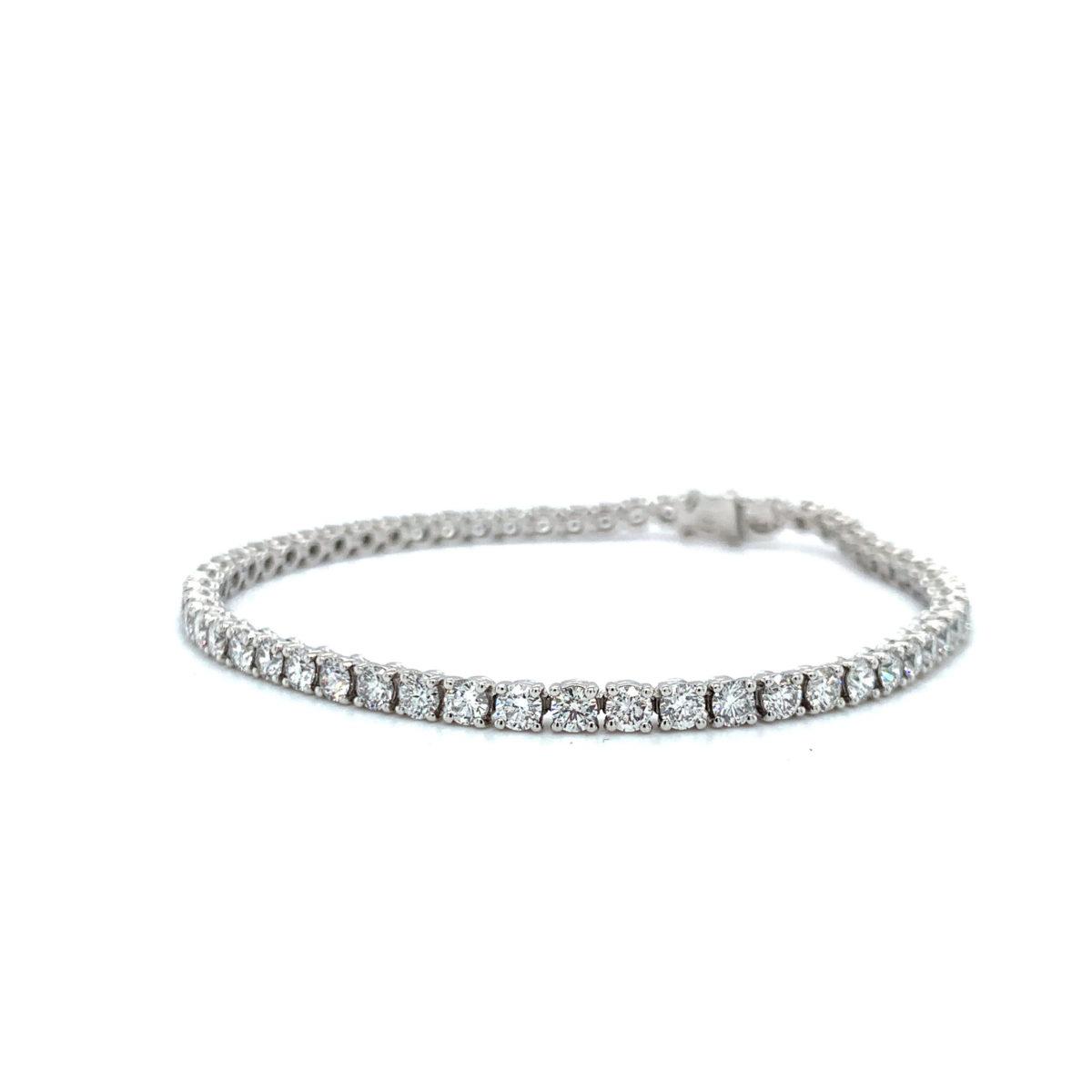 Jasmine Round Brilliant Cut Diamond Bracelet
