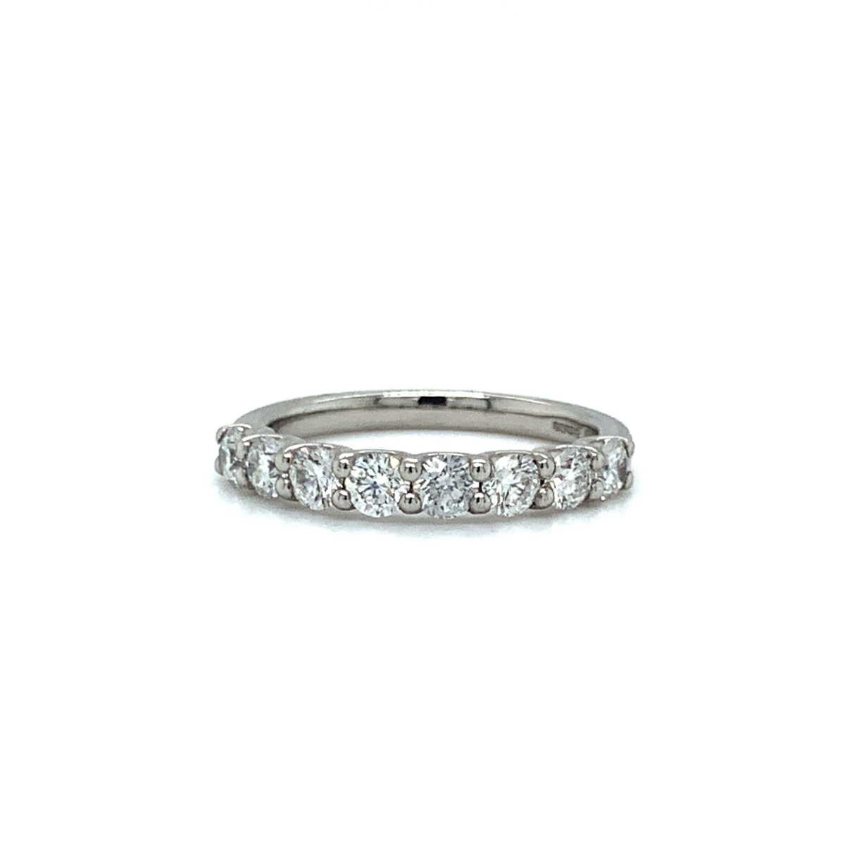 Reina 8 Stone Round Brilliant Cut Diamond Band